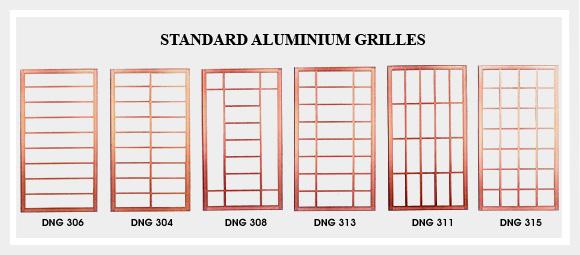 Grilles aluminium windows